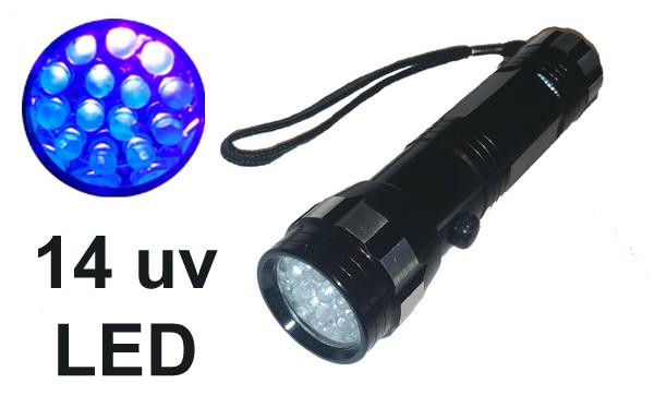 14 LED es UV maroklámpa