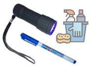 Takarítás ellenőrző UV lámpás készlet