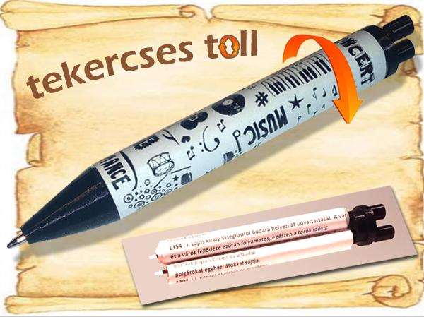 Tekercses puskázós toll