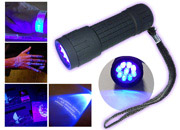 9 LED es UV maroklámpa + ajándék Alkoholos UV filc