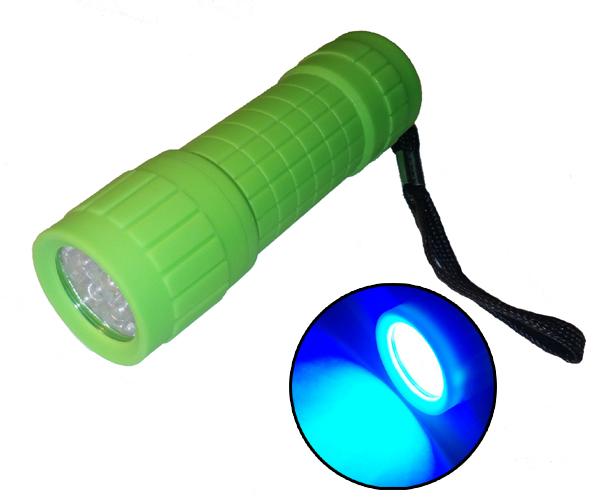 UV maroklámpa ZÖLD - 9 LED-es