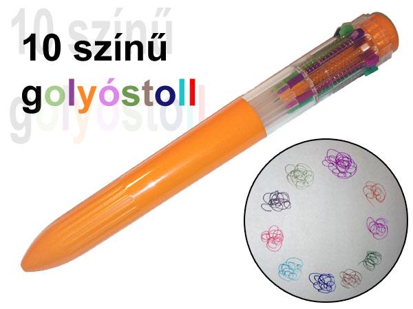 10 színű golyóstoll