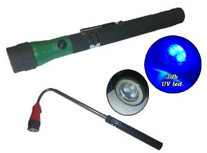 UV lámpa 3 LED-es teleszkópos